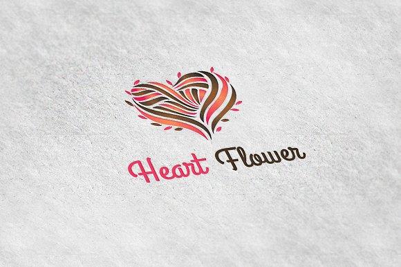 heart flower logo template logo templates creative market