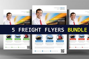 5 International Freight Flyer Bundle