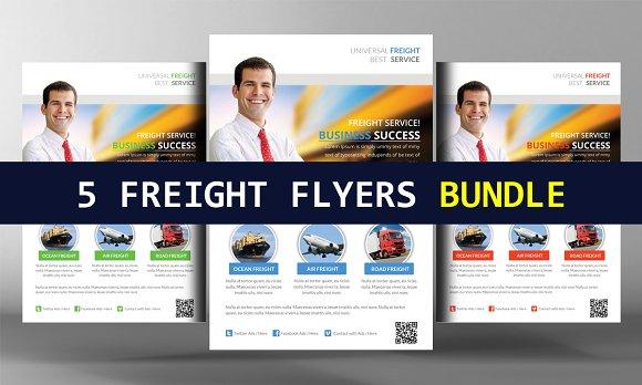 5 International Freight Flyer Bundle