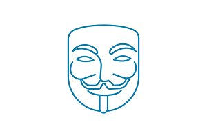 Anonymous user linear icon concept. Anonymous user line vector sign, symbol, illustration.