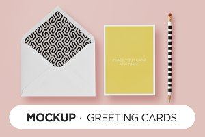 Mockup - HappyChic Card & Envelope