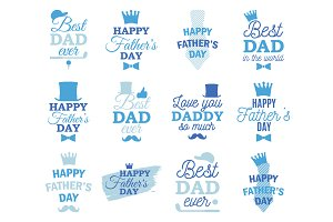 Father's Day labels design set