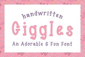 Giggles Font Fun Handwritten Serif