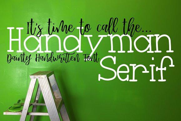 Handyman Serif Handwritten Font