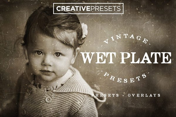 Photoshop Actions: CreativePresets.com - Wet Plate Lightroom Presets+Overlay