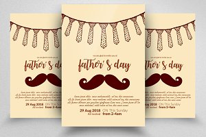 Super Dad Father Day Flyer Template