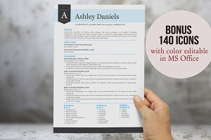 3 in 1 blue modern banner resume