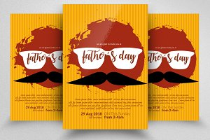 Super Dad Father's Day Flyer Templat