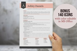 3 in 1 red modern banner resume