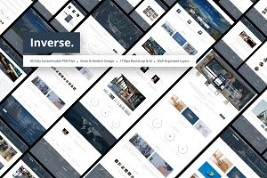 Inverse - Business PSD Template