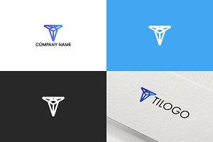 Letter T logo design