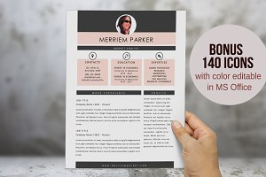 Elegant 3 in 1 Word resume pack