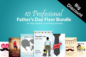 10 Father Day Flyer Template Bundle