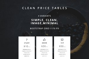 Clean price tables - HTML ver.