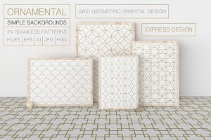 Set of ornamental seamless patterns