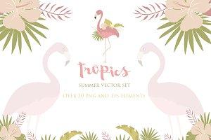 Summer Tropics Vector Set