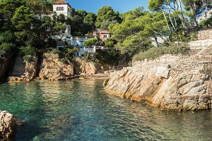 Fornells beach in Costa Brava