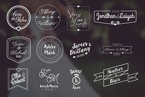 12 Modern Wedding Labels + Bonus