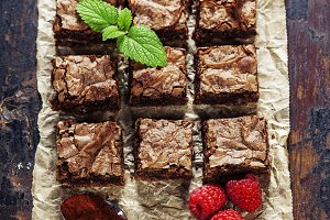 homemade brownie pieces