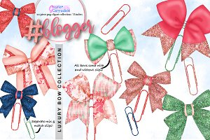 Blogger Bow Clipart Collection