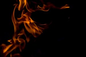 A texture of a burning fire
