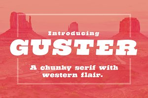 Guster - Chunky Western Font