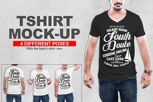 V-Neck Tshirt Mockup vol-1