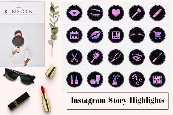 Instagram Story Highlight Icons in Social Media Templates
