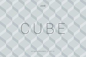 Cube | Seamless Geometric | Vol. 01