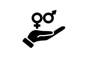 icon. Gender symbol (men and women)