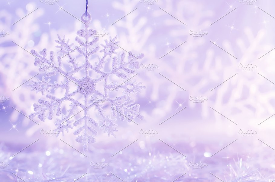 light purple background with snowflakes christmas background