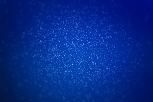Falling powder glitter confetti in technology concept. Explosion on blue background, 3d illustration