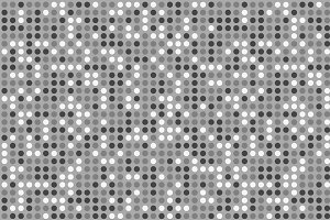 white circle mosaic tile. Seamless pattern dots background in technology concept. 3d illustration.