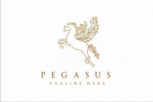 Pegasus Serious Logo Template