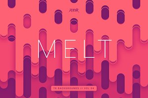 Melt | Rounded Backgrounds | Vol. 04
