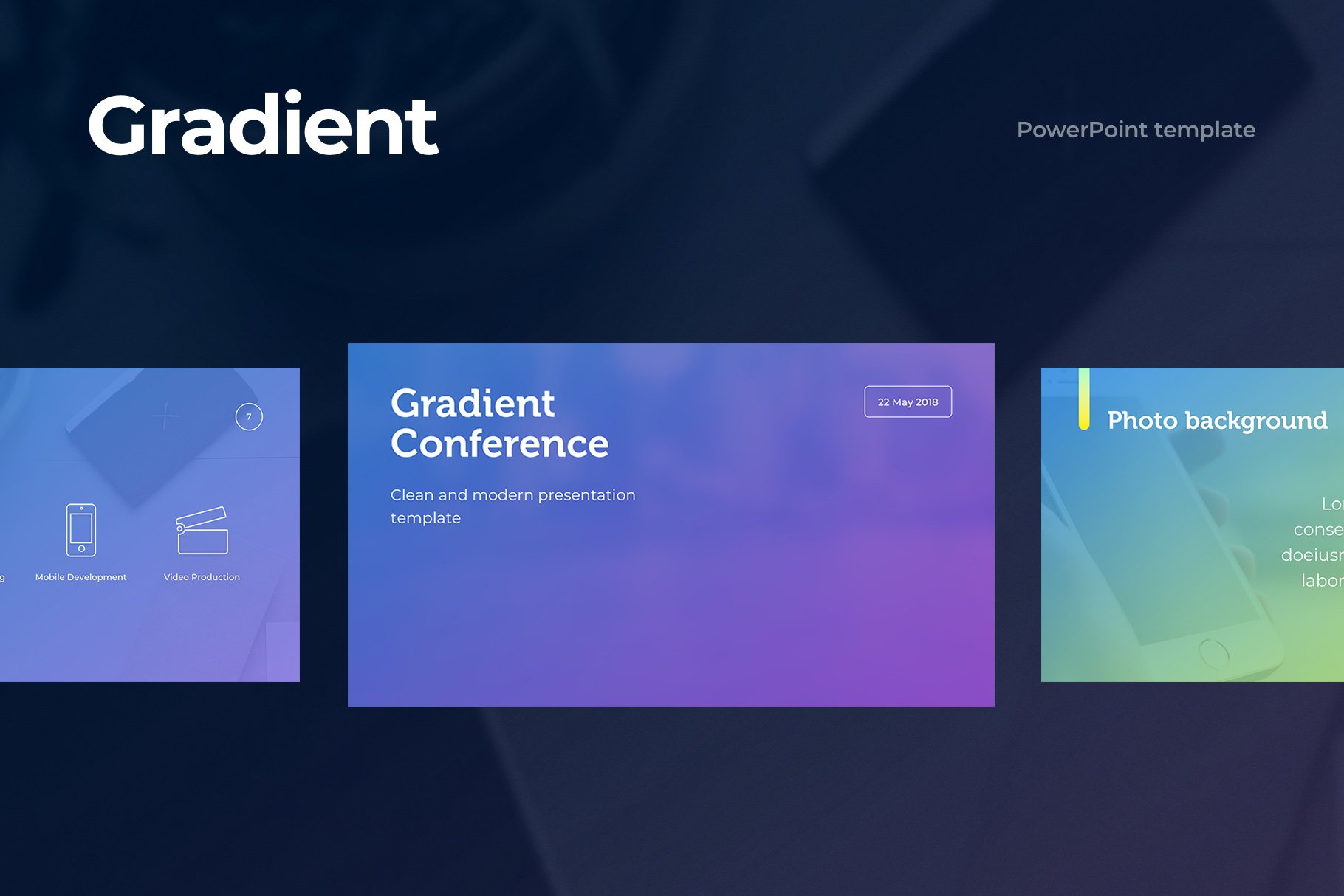 gradient powerpoint template presentation templates creative market