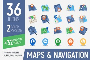 Maps & Navigation Icons