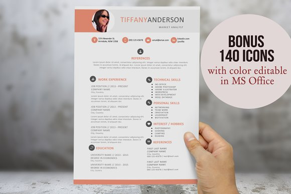 2 in 1 photo resume template