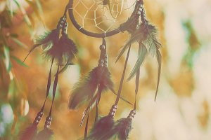 Dream catcher in a vintage style.