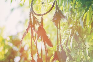 Dream catcher in a vintage style. Se