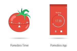 Concept of pomodoro timer and app