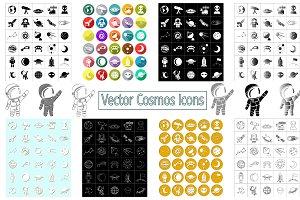 Vector Cosmos Icons - Universe