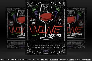 Wine Tasting Festival Flyer And Post