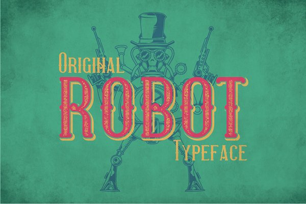 Display Fonts: Vozzy - Robot Modern Label Typeface