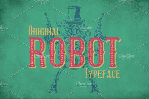 Robot Modern Label Typeface