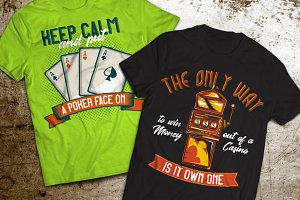 Casino T-shirts And Poster Labels