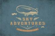Sky Adventures Vintage Typeface