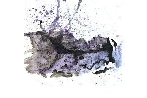 Purple and black watercolor