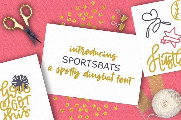 SportsBats A Sporty Dingbat Font
