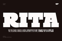 Rita - Intro Offer 69% off! by Luciano Vergara in Slab Serif Fonts